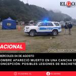 Hombre apareció muerto en una cancha en Concepción: Posibles lesiones de machete